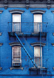 Blue building in greenpoint, near Williamsburg in Brooklyn Stock Photo