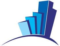 Blue building logo Stock Photo