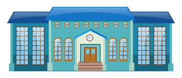 Blue building with lots of windows. Illustration Royalty Free Stock Photography