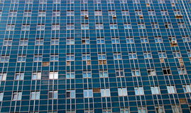 Building with many windows. Blue building with many windows Stock Image