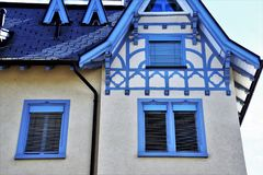 Blue, Building, Property, House Royalty Free Stock Photography