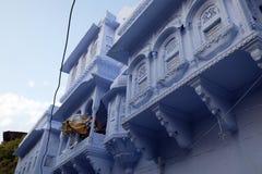Blue building in Pushkar, India. Blue building in Pushkar, Rajasthan, India Stock Image