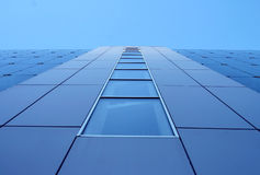Blue building wall. With flat perspective Royalty Free Stock Images