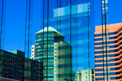 Blue buildings reflections Royalty Free Stock Image