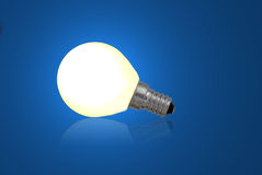Blue bulb. Use it for concepts Stock Photo