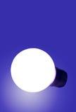 Blue bulb. Blulb glowing Royalty Free Stock Image