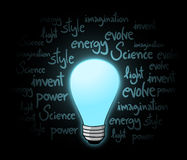 Blue bulb Royalty Free Stock Images