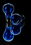 Blue Bulbs Stock Photo