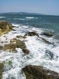 Blue bulgarian sea Stock Photo