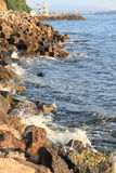 Blue bulgarian sea Royalty Free Stock Photo