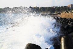 Blue bulgarian sea Stock Photos