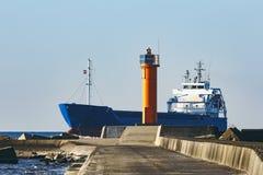 Blue bulk carrier Stock Photos