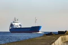 Blue bulk carrier Stock Image