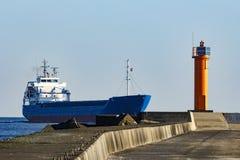 Blue bulk carrier Royalty Free Stock Photo