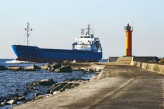 Blue bulk carrier Royalty Free Stock Photography
