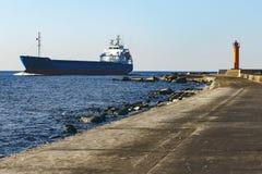 Blue bulk carrier Stock Photo
