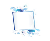 Blue bulletin board Royalty Free Stock Images