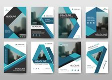 Blue bundle annual report brochure flyer design template vector, Leaflet cover presentation abstract flat background, stock illustration