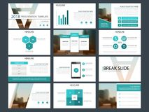 Blue Bundle infographic elements presentation template. Business annual report, brochure, leaflet, advertising flyer, corporate marketing banner Royalty Free Stock Photo