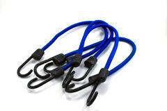 Blue Bungee Cords Royalty Free Stock Photography