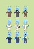 Blue bunnies Royalty Free Stock Image