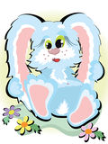 Blue bunny Stock Image