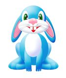 Blue bunny 2. Cartoon bunny Royalty Free Stock Photography