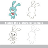 Blue Bunny. Drawing worksheet. Royalty Free Stock Photos