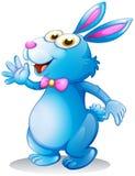 A blue bunny waving Stock Photo