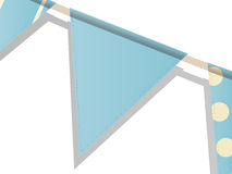 Blue bunting on a white background Stock Photography