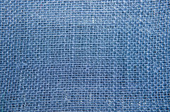 Blue Burlap Texture Royalty Free Stock Image