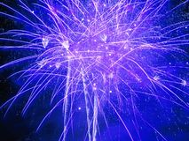 Blue Burst. Nottingham Riverside Festival Firework Display stock photos
