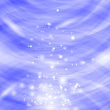 Blue Burst Blurred Background. Sparkling Texture. Star Flash. Glitter Particles Pattern. Starry Explosion Stock Photo