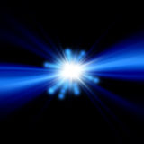 Blue bursting star Royalty Free Stock Image