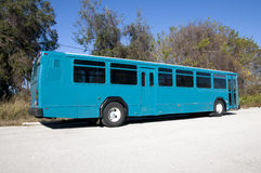 Blue Bus Royalty Free Stock Photo