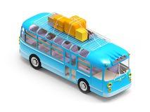 Free Blue Bus Adventure Royalty Free Stock Image - 99637226