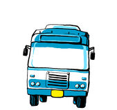 Blue bus illustration Stock Photos