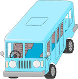 Blue bus Royalty Free Stock Image