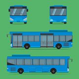 The blue bus NGV driver fare passenger autobus omnibus coach rail bench chair stool armchair seat mattress bolster hassock pad. The blue bus NGV driver fare stock illustration