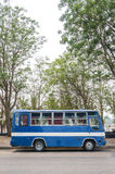 Blue bus. Old blue bus in nature of Thailand Stock Photography