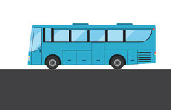 Blue bus picture Royalty Free Stock Image