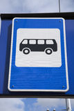 Blue Bus Stop Sign Royalty Free Stock Images