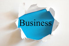Blue business Stock Photography