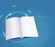 Blue business background, with a copybook Stock Photos