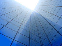 Blue business background - modern architecture Stock Image