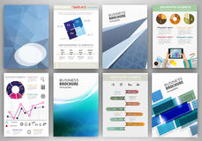Blue business backgrounds and abstract concept infographics Stock Photography