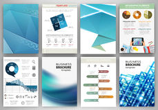 Blue business backgrounds and abstract concept infographics Royalty Free Stock Images
