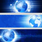 Blue Business Banners Royalty Free Stock Images
