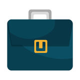 Blue business briefcase male accesorie icon. Royalty Free Stock Photos