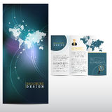 Business brochure template. Blue Business brochure layout template Stock Photos